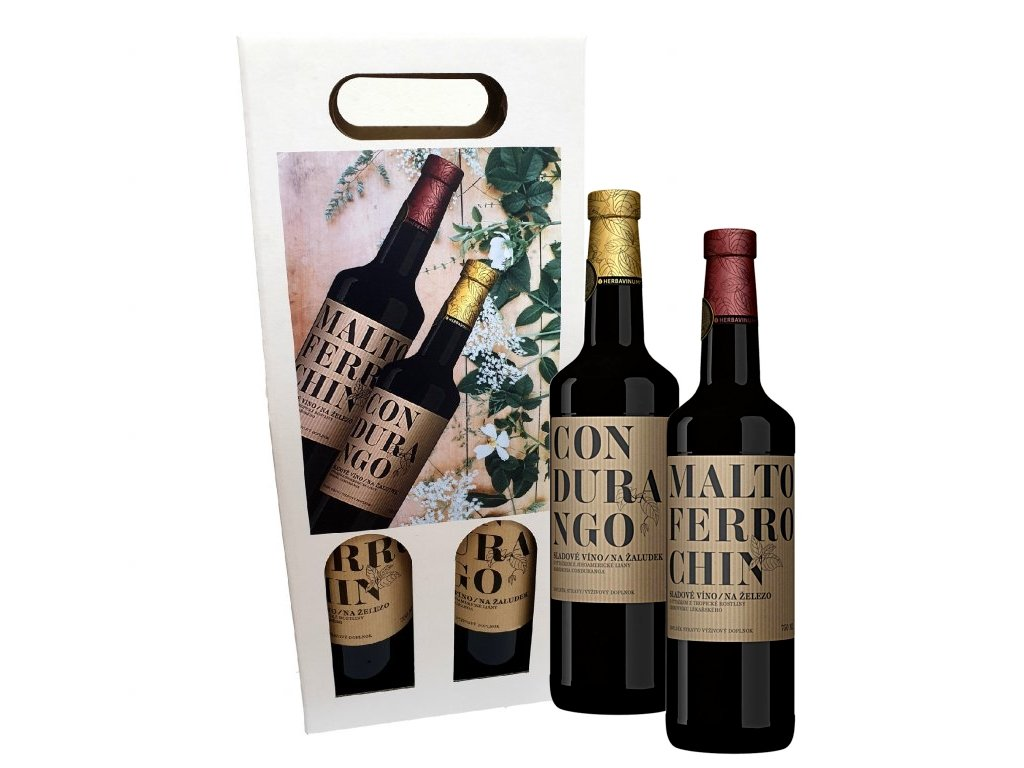4022 herbadent darkovy set medicinalnich sladovych vin 2 x 750 ml