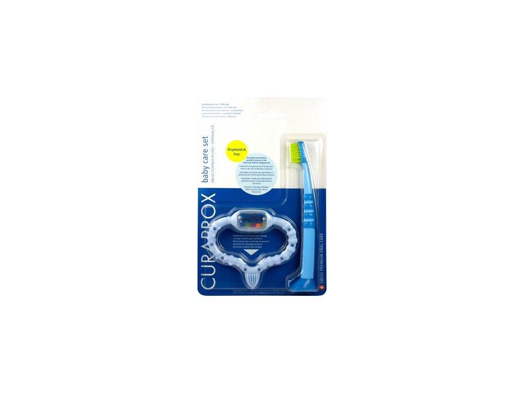 Curaprox modré kousátko + kartáček