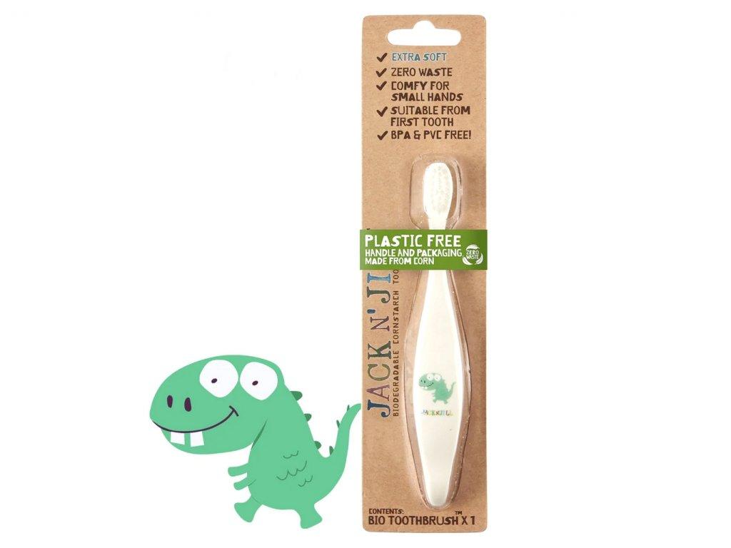 JACK N'' JILL BIO dětský zubní kartáček Dinosauřík