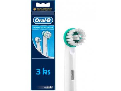 Oral B OrthoCare Essentials náhradní hlavice na rovnátka 3 ks EB17-3