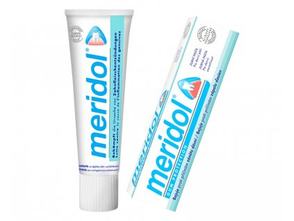 meridol toothpaste front of tube