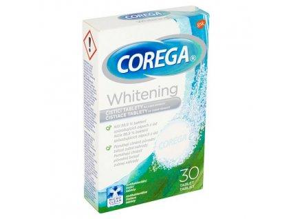 Corega Whitening čistící tablety na zubní náhrady 30 ks