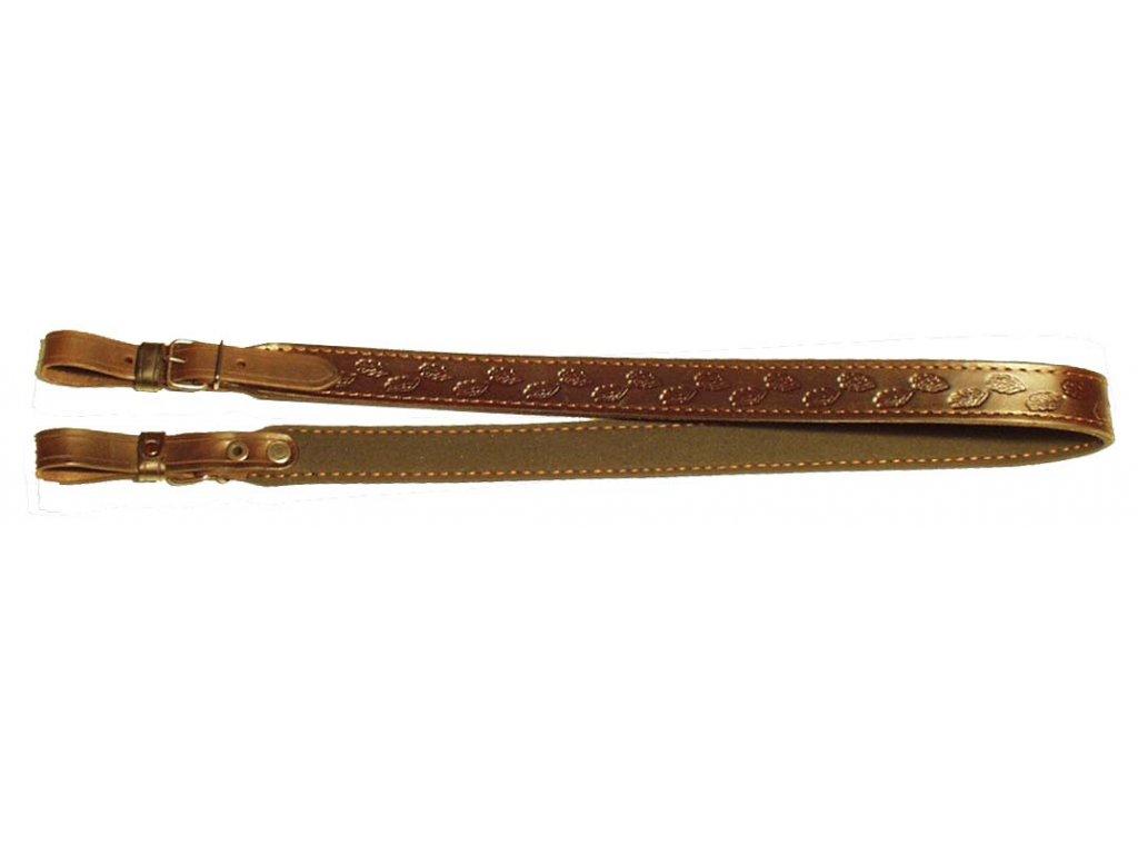 Kožený řemen na zbraň podšitý protiskluzovou gumou Zubíček