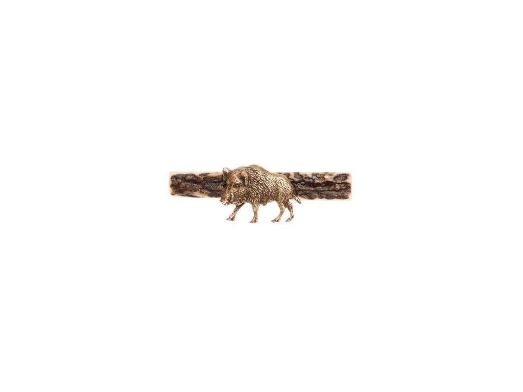 parohová spona do kravaty - divočák