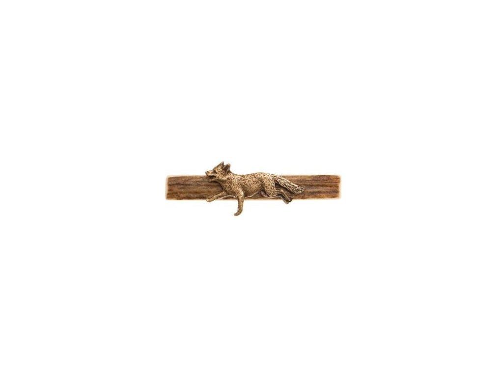 parohová spona do kravaty - liška