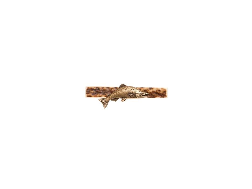 parohová spona do kravaty - losos