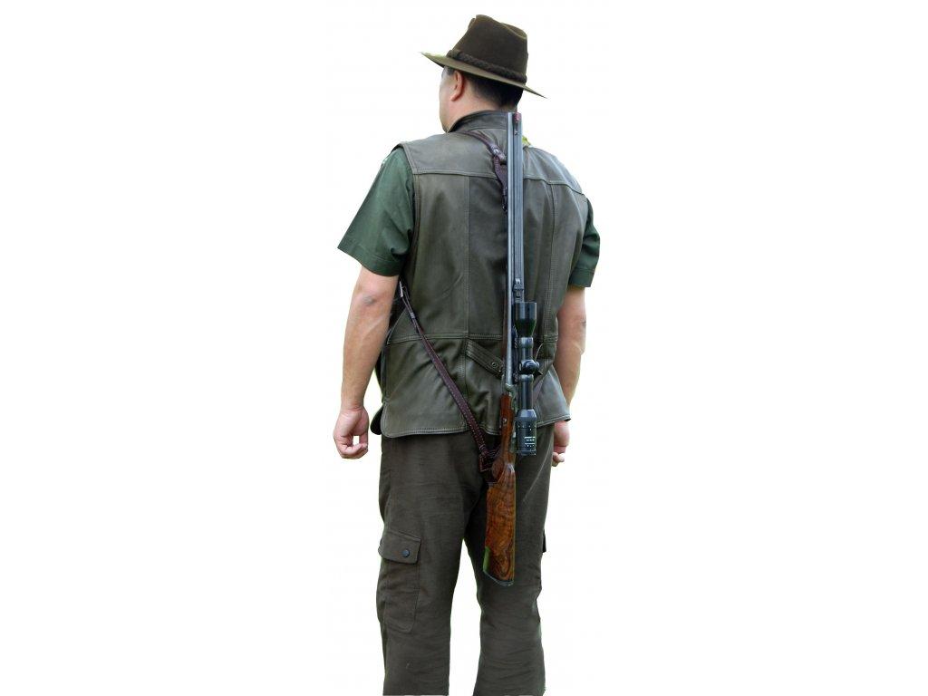 kožený zádový řemen na zbraň
