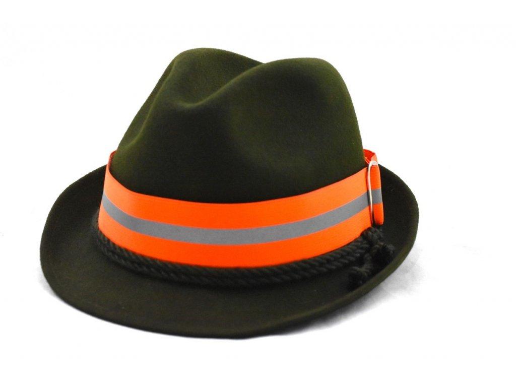 Reflexní pásek na klobouk s proužkem