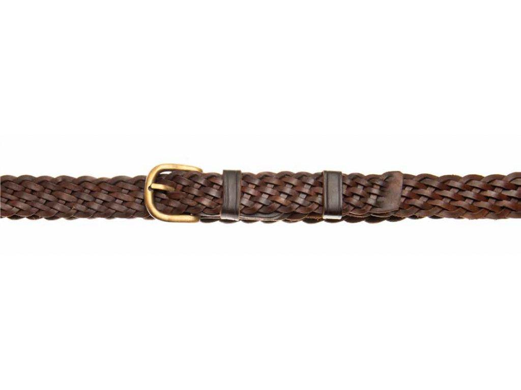 kožený pletený opasek