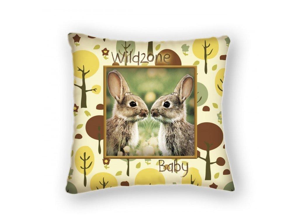 Polštářek pro děti WILDZONE - králíci