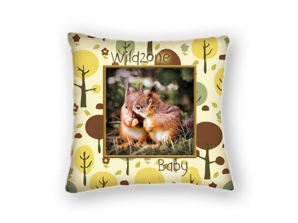 Polštářek pro děti WILDZONE - veverky