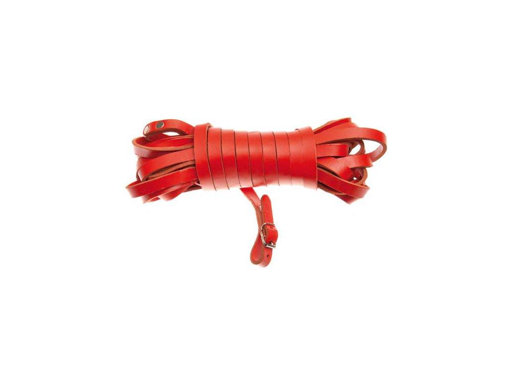 Plochá barvářská šňůra, červená - šíře 14 mm