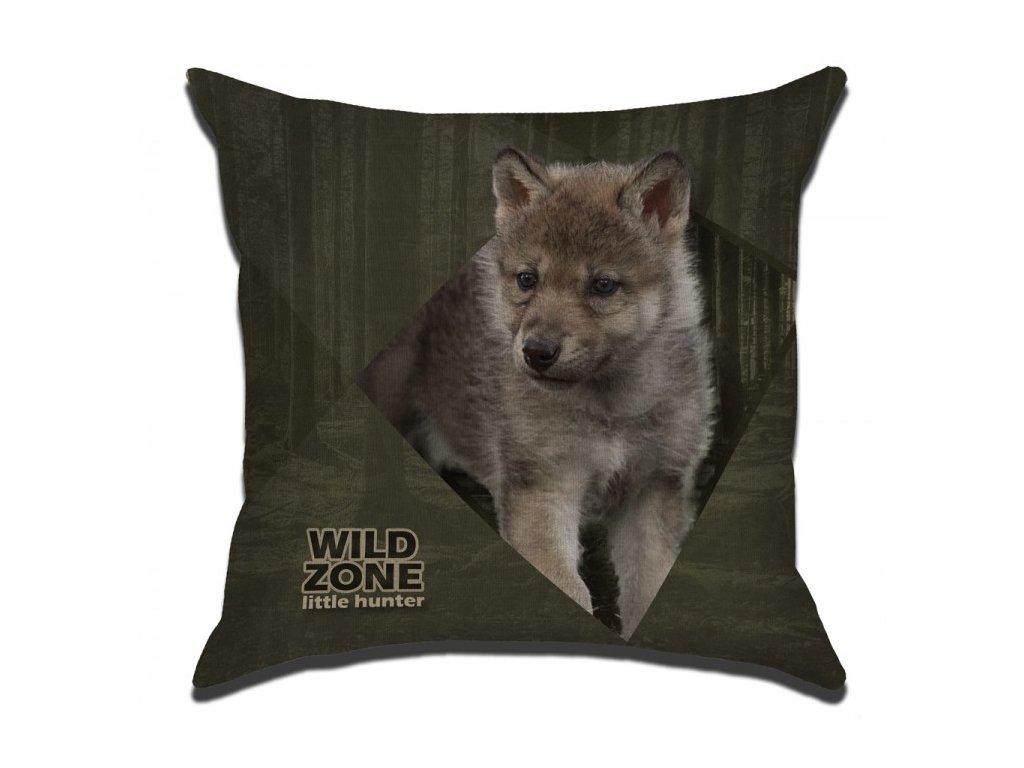 Polštářek pro děti WILDZONE - mládě vlka