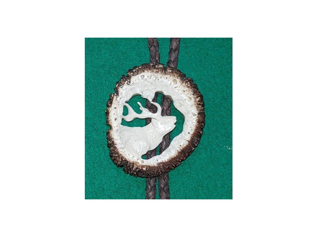 LP166 08 bolo parohové vyřezávané růže jelen