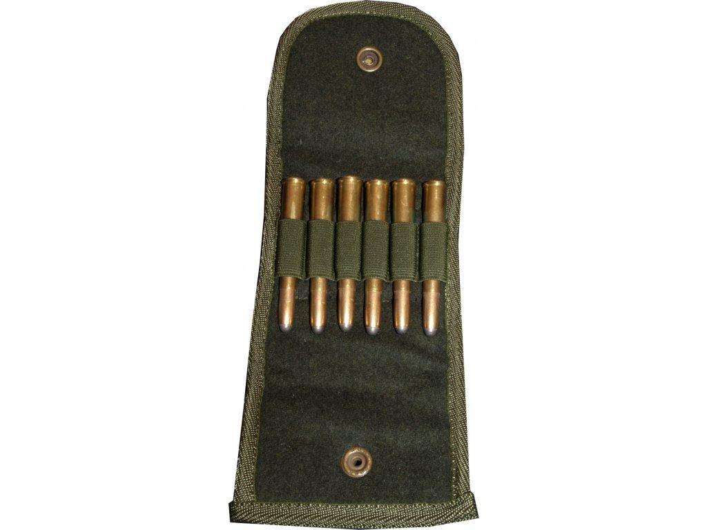 Lodenové pouzdro na náboje (6x K)