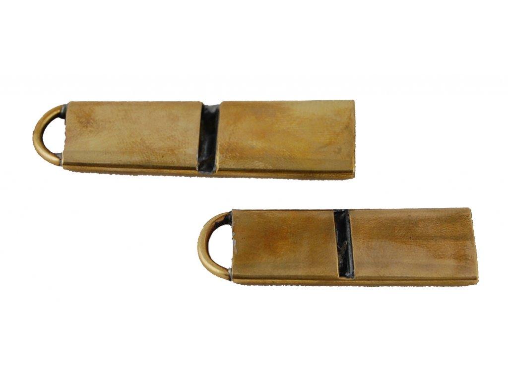 Píšťalka na psy - kovová (z kulového náboje)