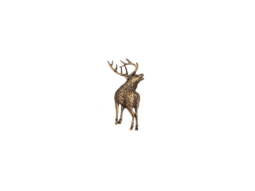 odznak na klobouk - jelen postava