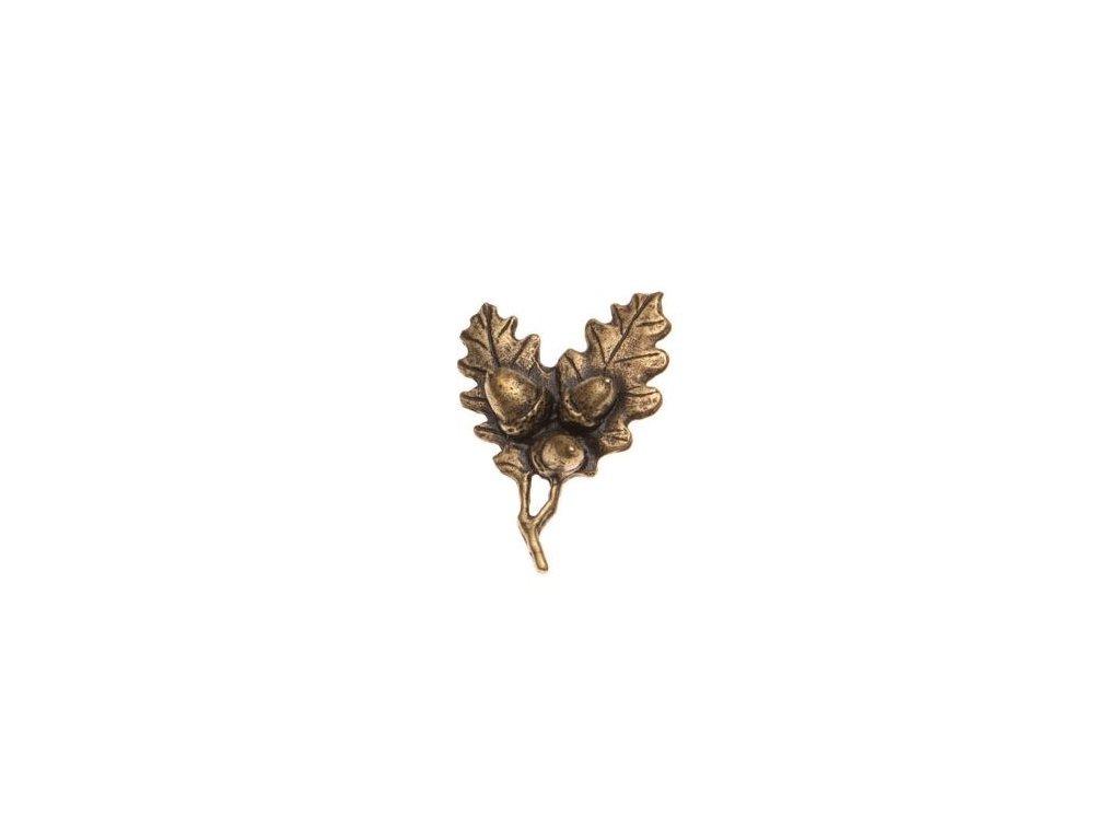 odznak na klobouk - dubová větvička
