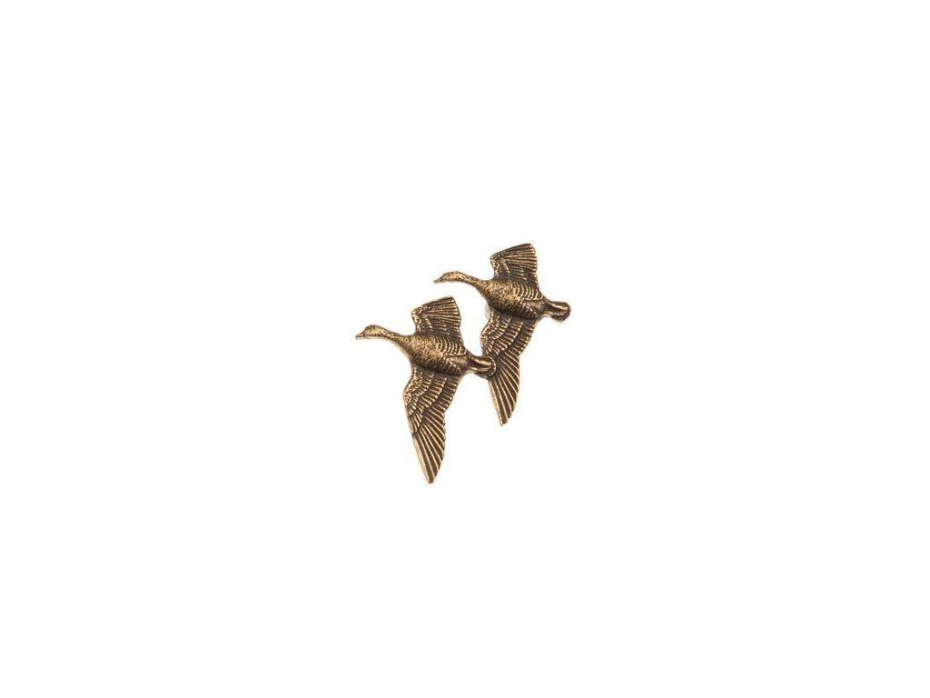 odznak na klobouk - husy v letu