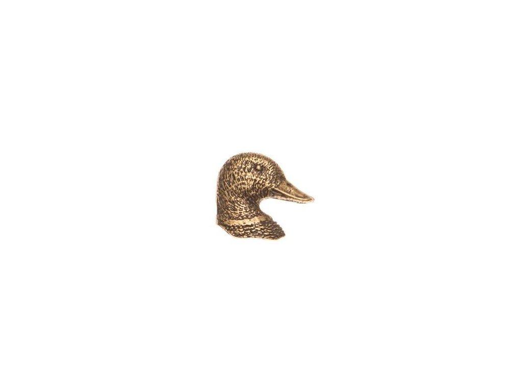 odznak na klobouk - kachna hlava