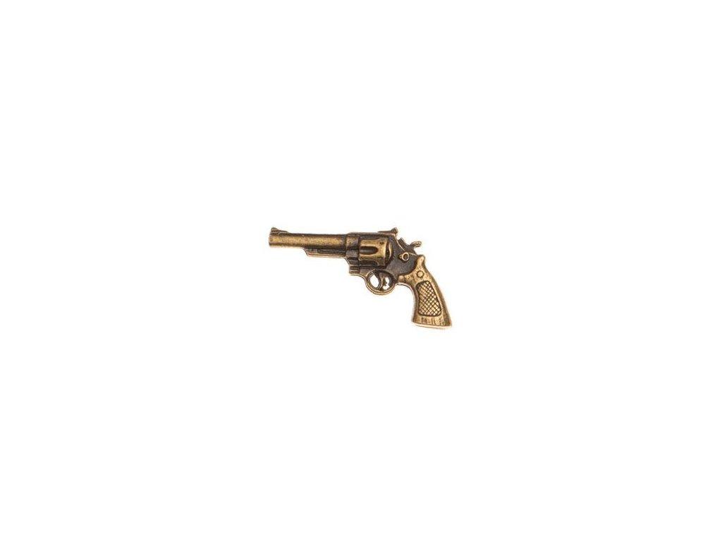 odznak na klobouk - revolver