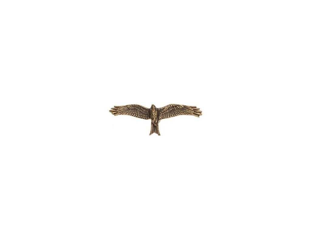 odznak na klobouk - dravec v letu