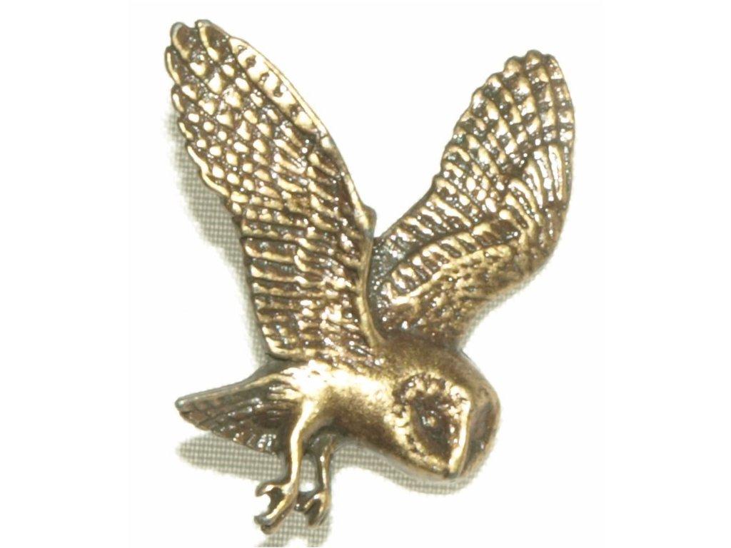 odznak na klobouk - letící sova