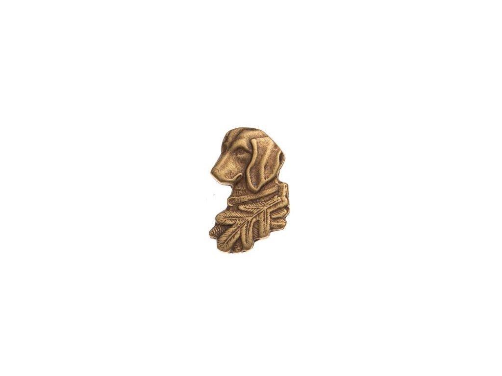 odznak na klobouk - jezevčík hlava
