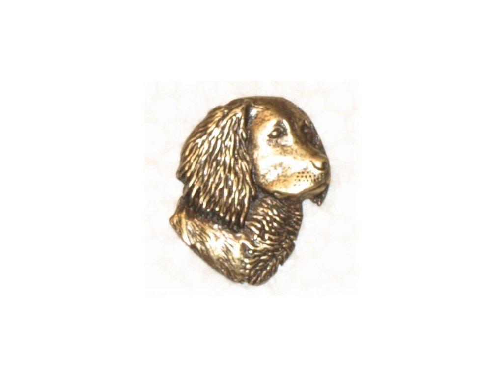 odznak na klobouk - pes hlava