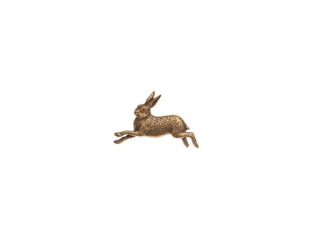 odznak na klobouk - zajíc v běhu