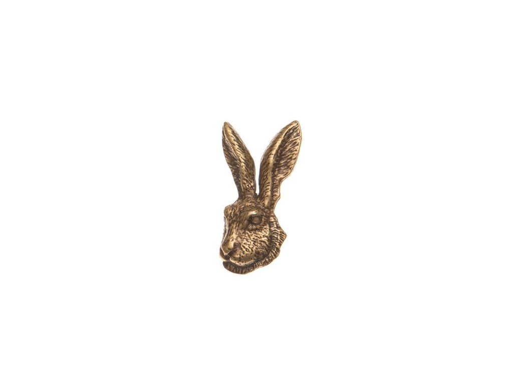 odznak na klobouk - zajíc hlava