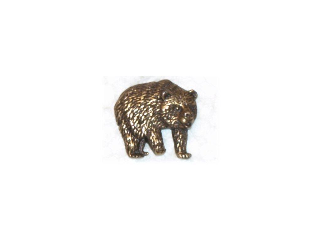 odznak na klobouk - medvěd