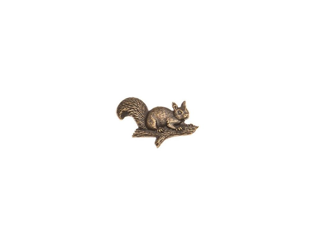 odznak na klobouk - veverka