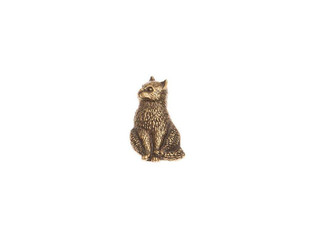odznak na klobouk - kočka