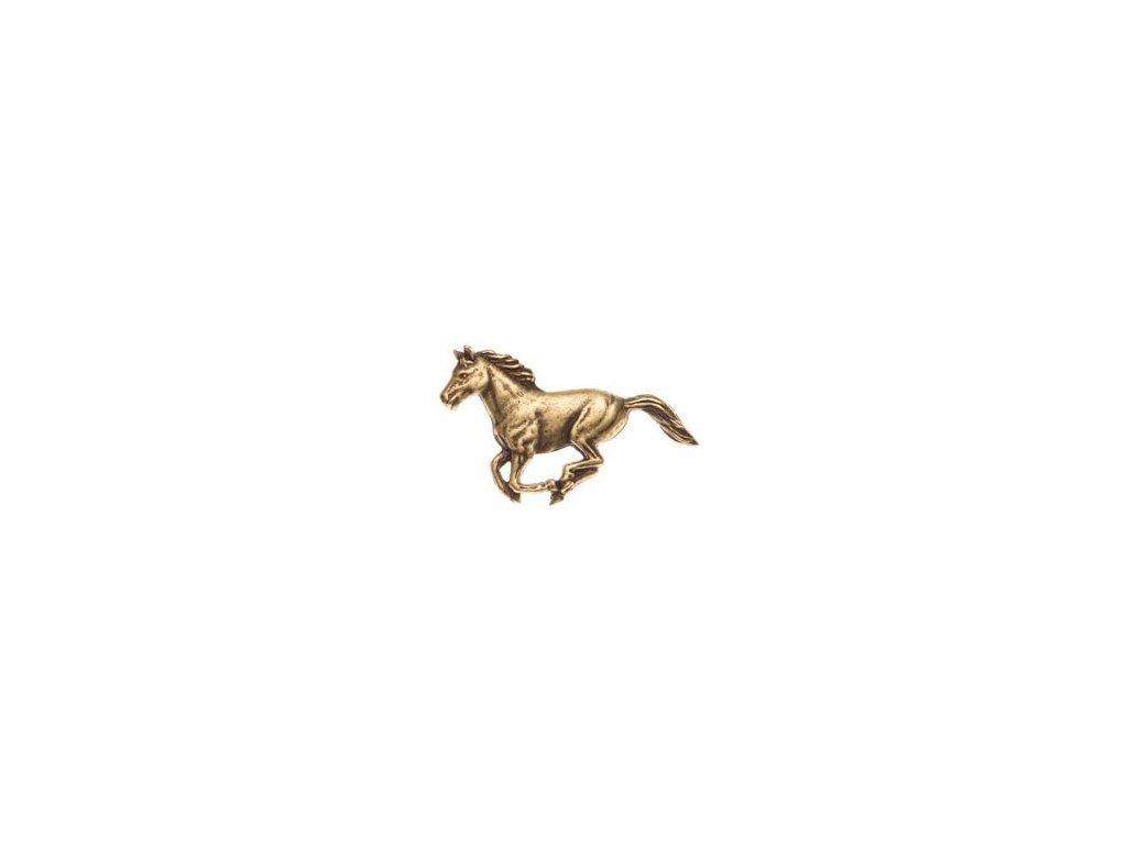 odznak na klobouk - kůň