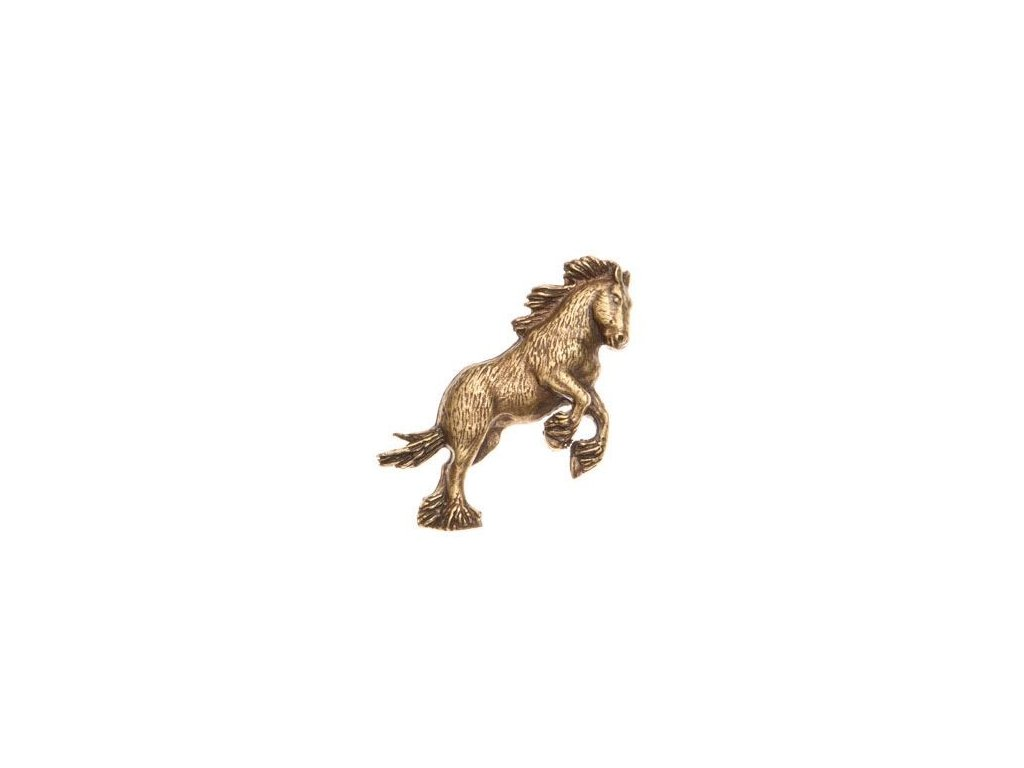 odznak na klobouk - kůň ve skoku