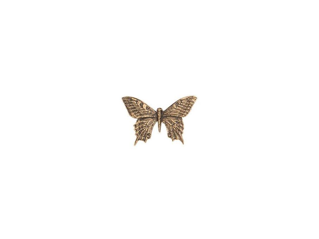 odznak na klobouk - motýl