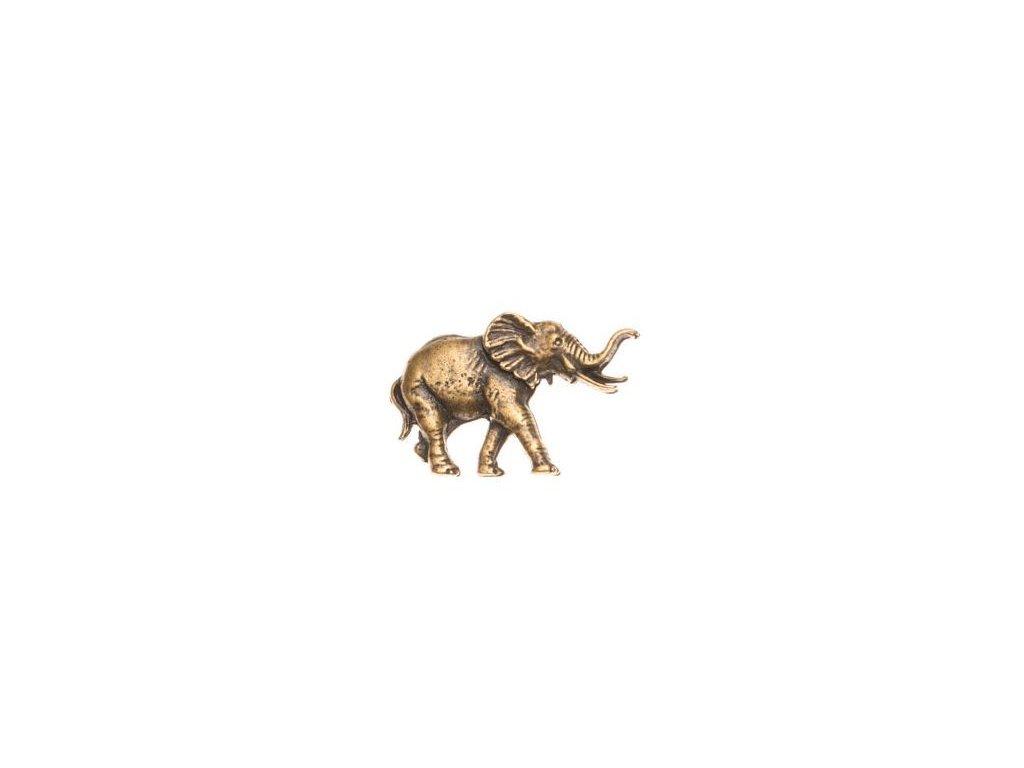 odznak na klobouk - slon