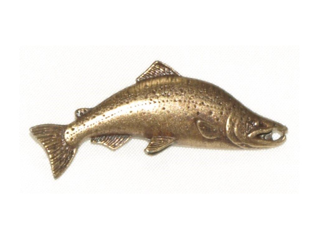 odznak na klobouk - losos