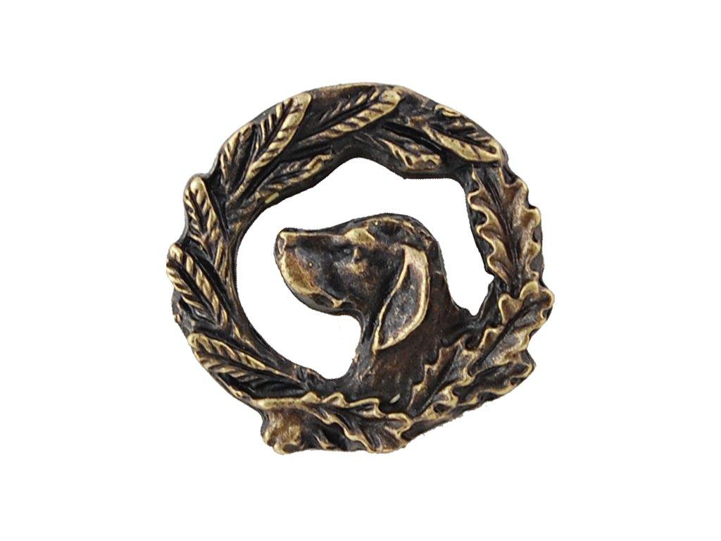 odznak na klobouk - pes