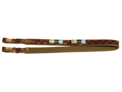 Kožený řemen na zbraň s poutky na brokové náboje