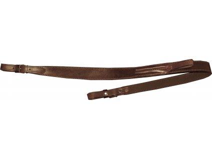 Kožený řemen na zbraň podšitý protiskluzovou gumou