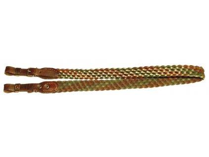 kožený pletený řemen na zbraň