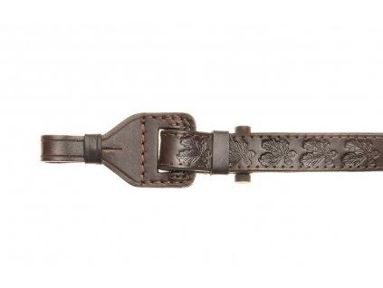 Kožený stahovací řemen na zbraň podšitý protiskluzovou gumou Zubíček