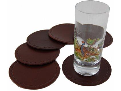 kožené tácky pod sklenice