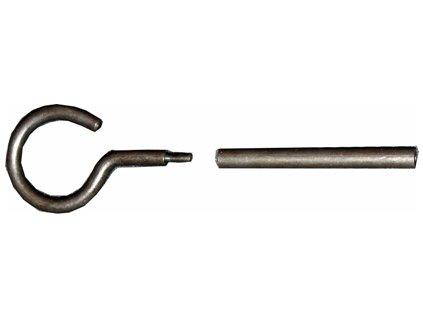 Háček a redukce vytěráku z 3 mm na 5 mm