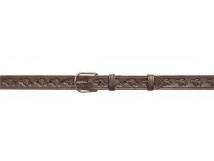Kožený myslivecký opasek - šíře 3 cm