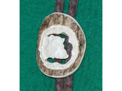 LP167 05 bolo parohové vyřezávané hlava divočáka