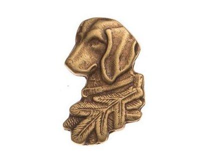 Hlava jezevčíka (odznak na klobouk)