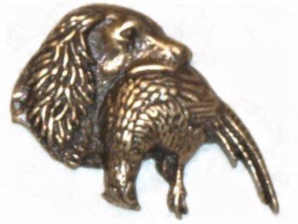Pes s bažantem (odznak na klobouk)